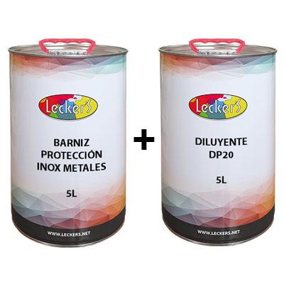 Kit barniz protección inox 5L